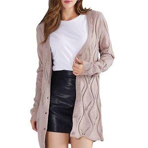 New! Women's Cozy Knit Cardigan Size S-L